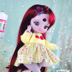 "Dress - Sunny cherry - Online shop ""Villi Tunes Doll"""