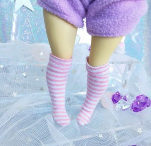 "Socks size 1\6 - pink stripes - Online shop ""Villi Tunes Doll"""
