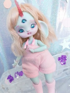 "jumpsuit pink plush - For Bunnycorn Lamoon - Online shop ""Villi Tunes Doll"""