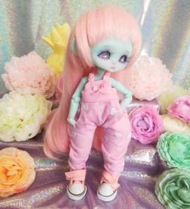 "jumpsuit pink & heart -For Mouse Mimi /Bunnycorn Lamoon - Online shop ""Villi Tunes Doll"""