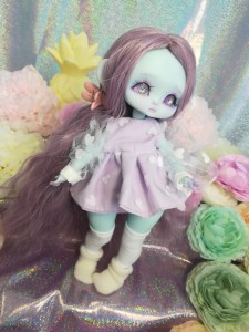 "Dress - purple and heart  - For Mouse Mimi /Bunnycorn Lamoon - Online shop ""Villi Tunes Doll"""