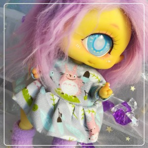 "Dress - light grey totoro - Online shop ""Villi Tunes Doll"""