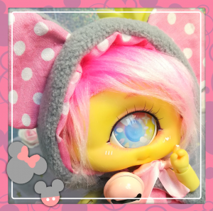"OUTFIT - mikku mouse - grey & pink - Online shop ""Villi Tunes Doll"""