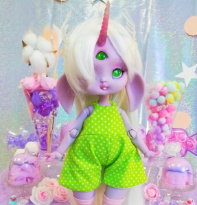 "Jumpsuit - Green polka dots  - Online shop ""Villi Tunes Doll"""