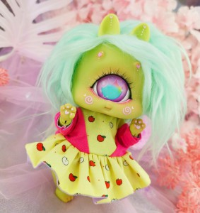 "Dress - Sweetie apples - Online shop ""Villi Tunes Doll"""