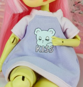 "T-shirt - purple - pink  ^ KISS ^ - Online shop ""Villi Tunes Doll"""