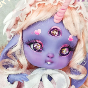 "Bunnycorn - Lamoon - in colour Sweet Blueberries - Online shop ""Villi Tunes Doll"""