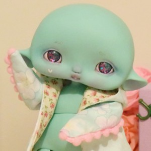 "hood  Sakura blue dot for Cyclops - Mouse - Online shop ""Villi Tunes Doll"""