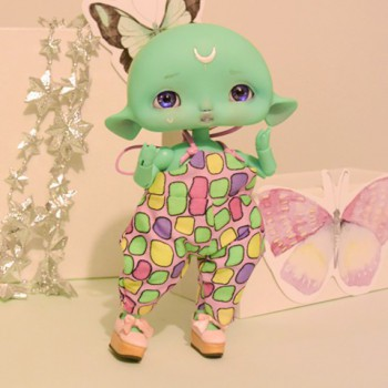 "jumpsuit yellow-green for Cyclops - Mouse - Online shop ""Villi Tunes Doll"""