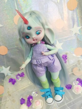 "jumpsuit purple ballerina tutu- For Bunnycorn for Lamoon - Online shop ""Villi Tunes Doll"""