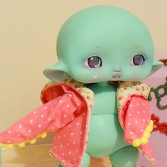 "hood  pink polka dot for Cyclops - Mouse - Online shop ""Villi Tunes Doll"""